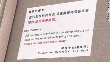 Istruzioni per i detenuti nei campi di quarantena