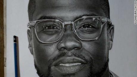 Il designer nigeriano vende ritratti a Kevin Hart