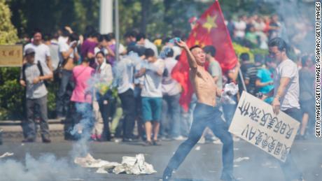 Le proteste nazionaliste e anti-giapponesi sono scoppiate in alcune parti della Cina nel 2012 nel controverso territorio del Mar Cinese Orientale.
