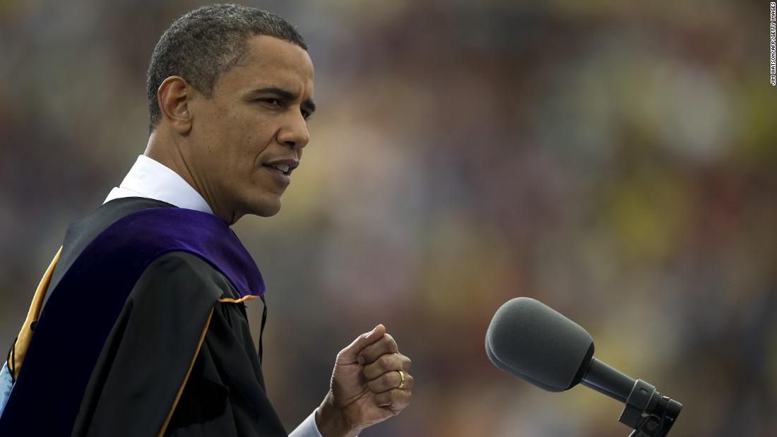 Lo studente chiede a Obama di fornire un indirizzo virtuale alla classe americana del 2021