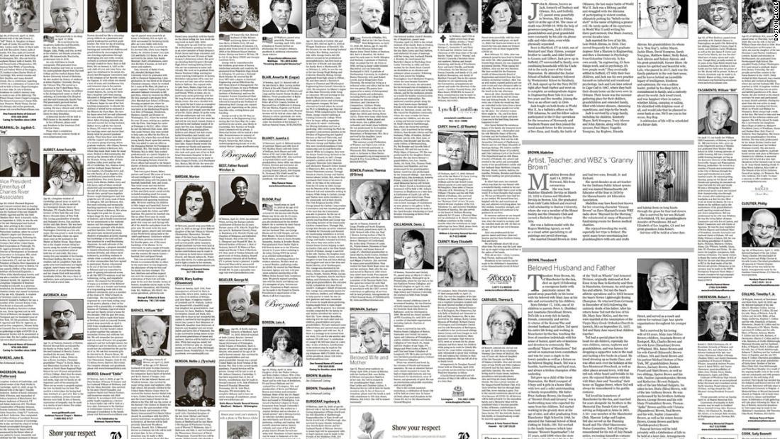 Avvisi di morte per coronavirus: i giornali in tutto il paese pubblicano sempre più avvisi di morte