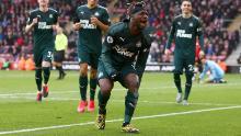 Allan Saint-Maximin segna per Newcastle contro Southampton.
