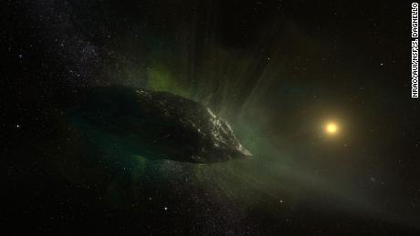 Gli scienziati ottengono una prima occhiata all'interno della cometa dall'esterno del nostro sistema solare