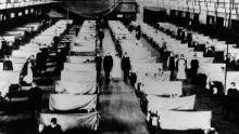 I magazzini sono stati convertiti per ospitare le persone infette in quarantena.