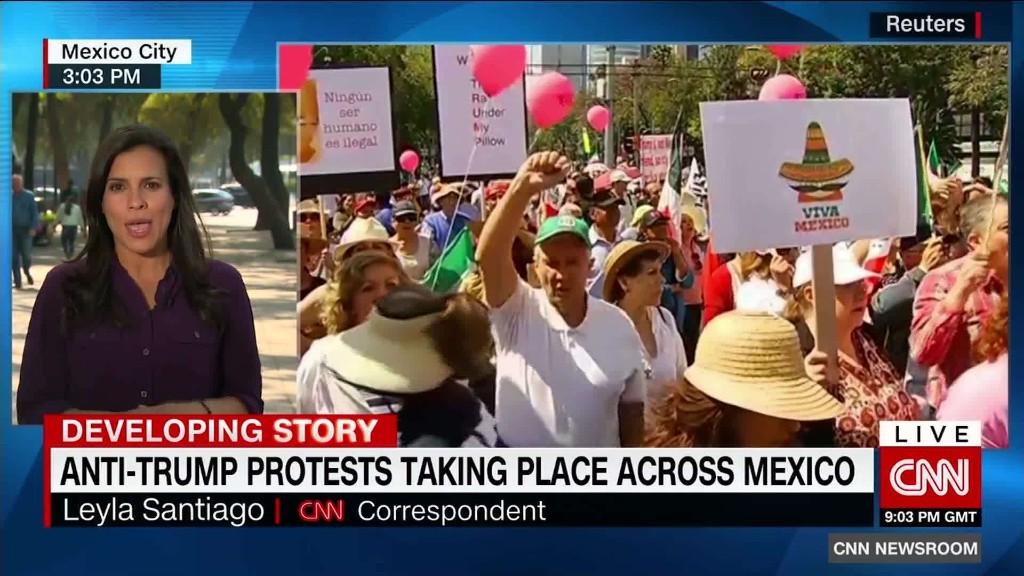 Le proteste anti-Trump si svolgono in tutto il Messico