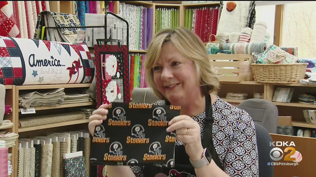 """Sew Like The Wind"" Sewing Studios fornisce maschere ai primi soccorritori durante l'epidemia di coronavirus – CBS Pittsburgh"