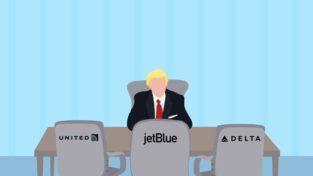 Trump incontra i dirigenti delle compagnie aeree