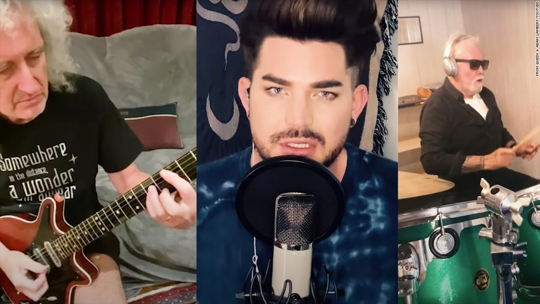 """Queen e Adam Lambert reinventano la canzone classica con """"You Are The Champions"""", dedicata agli operatori sanitari"""