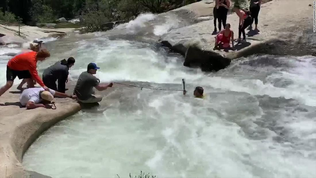 Off-duty officer saves hiker from a whirlpool