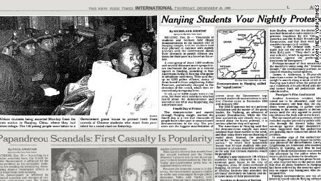 Il New York Times ha riferito di proteste notturne a Nanchino dopo che gli studenti cinesi si sono scontrati con gli africani.