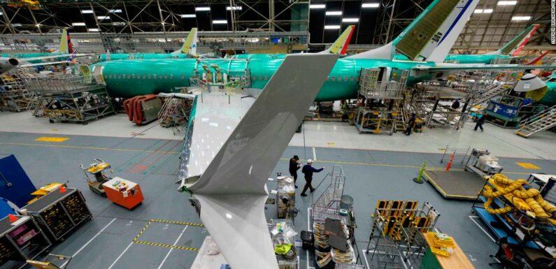 Boeing costruisce di nuovo 737 Max, anche se non ancora autorizzato a volare