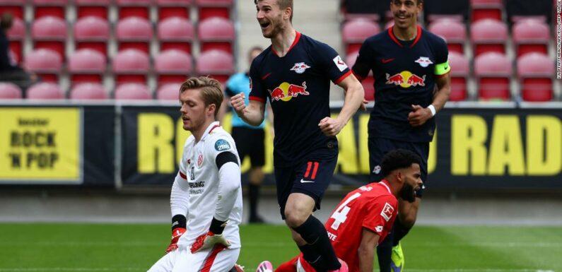 Il Lipsia di Werner infligge più sofferenza alle squadre di casa al ritorno dalla Bundesliga