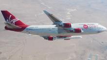 Virgin Orbit & # 39; test di caduta & # 39; un razzo da un aereo 747 35.000 piedi nel cielo