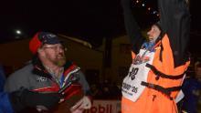 Waerner alzò le braccia in segno di trionfo dopo aver vinto.