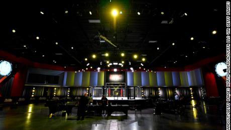 Una visione generale all'interno dell'APEX UFC prima dell'evento UFC Fight Night del 30 maggio.