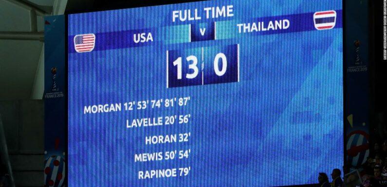 Mondiali femminili: punteggio 13-0 che ha inviato onde d'urto in tutto il mondo