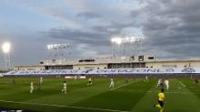 Il Real Madrid ha scelto di utilizzare gli stand vuoti nell'Estadio Alfredo di Stefano per mostrare uno striscione
