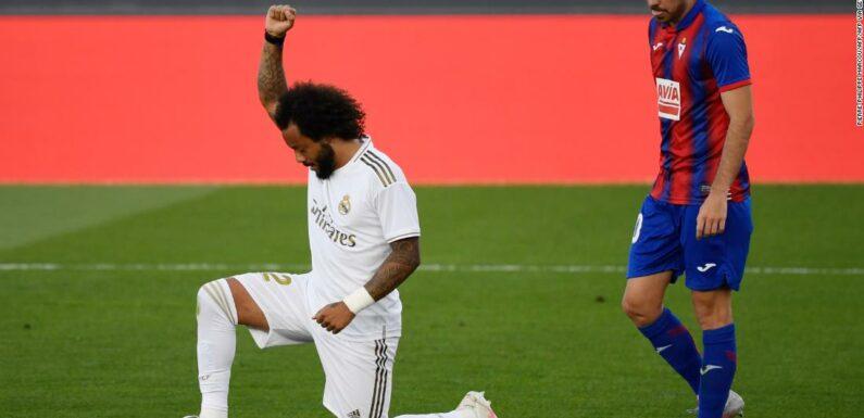 Il Marcelo del Real Madrid sostiene il movimento Black Lives Matter con la celebrazione degli obiettivi