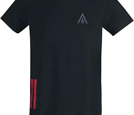 Assassin's Creed T-Shirt Assassin's Creed Odyssey – Tape Men's Longline T-Shirt Black