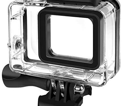 Rhodesy Custodia Protettiva Impermeabile per GoPro Hero 7(Solo nero) Hero 2018 Hero 6 Hero 5, Custodia Subacque Include Supporti e Viti per GoPro Hero 2018 Hero 7(Nero)/6/5 Action Camera