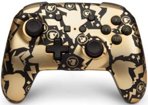 PowerA Controller Senza Fili Avanzato Per Nintendo Switch - Pikachu Cercatore D'Oro - Nintendo Switch