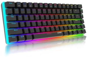 Chroma Tastiera Meccanica Gaming con Retroilluminazione RGB -88 Tasti Switches Blu- Ajazz AK33 Tastiera da Gioco 100% Anti-ghosting per Videogame, PC Windows e Mac, Nero
