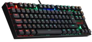 Redragon K552-RGB-DE Tastiera Meccanica KUMARA retroilluminata RGB Tastiera da Gioco 87 Tasti compatti Illuminati Tastiera da Gioco Blu Tastiere da Gioco per PC (Layout Tastiera Tedesca QWERTZ)