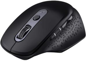 VicTsing Mouse Wireless Ricaricabile 3200DPI, Mouse Bluetooth Mac- Ergonomico e Silenzioso - Rotella del Pollice, Mouse Easy-Switch per Laptop, Mac, PC e Windows [Nero]