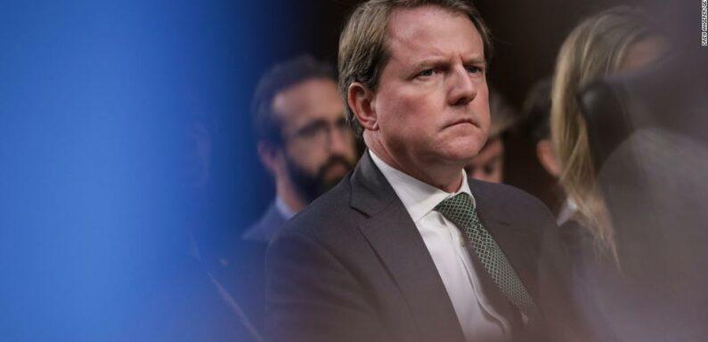 House potrebbe chiedere a Don McGahn di appellarsi alle regole della corte