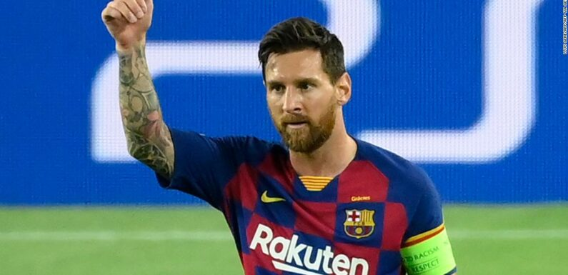 Lionel Messi solleva il Barcellona in Champions League ultimi 8
