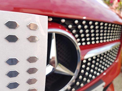 4 pezzi per Benz A B GLA CLA GLK classe W176 W246 C117 X204 Adesivo in lega di alluminio per portiera auto