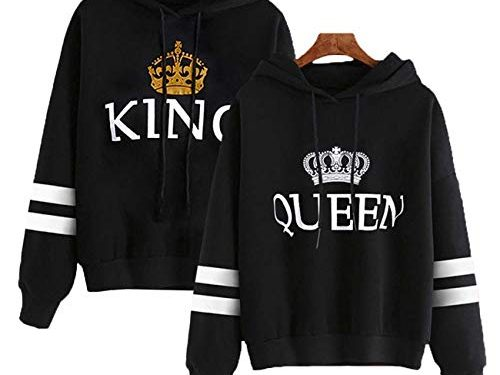 30 Migliori Felpe King Queen Coppia Con Cappuccio Testato e Qualificato